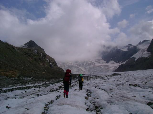 На леднике Джалаучат