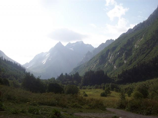 Домбай-Ульген с Русской поляны