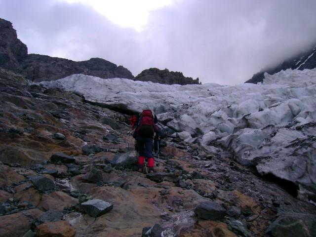 Обход 1-ой ступени ледопада
