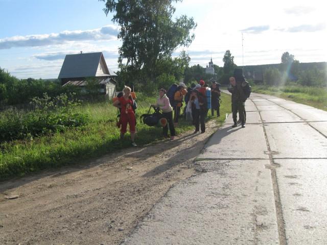 отдых на повороте в п.Ивановское
