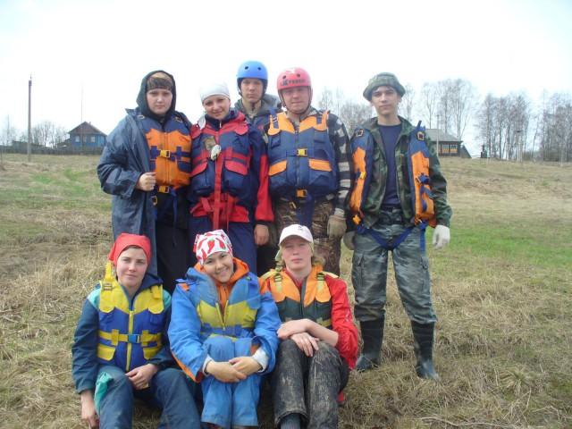 Отчет о водном походе 1 к.с. р.р.Воча - Кострома, Костромская область