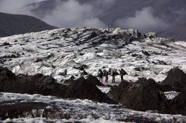 ледопад на леднике Богдановича