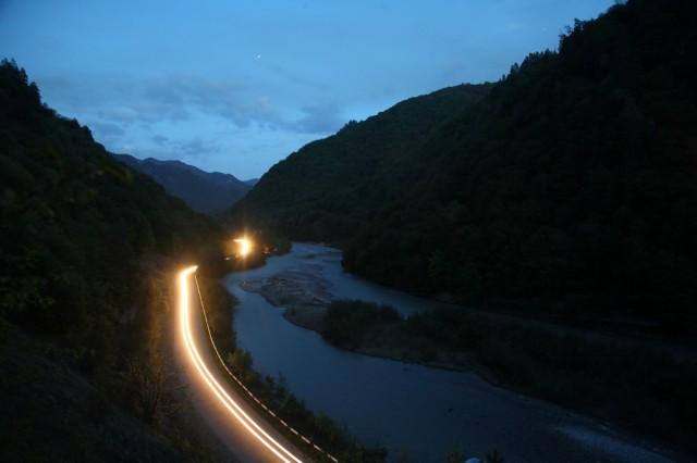ночь, река Кубань