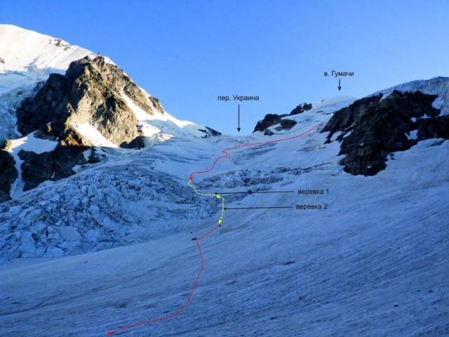 Фото 13 Прохождение ледопада на спуске