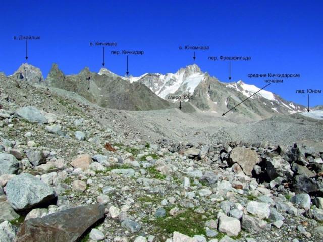 Фото 22 долина реки Куллумколсу, под языком ледника Юном