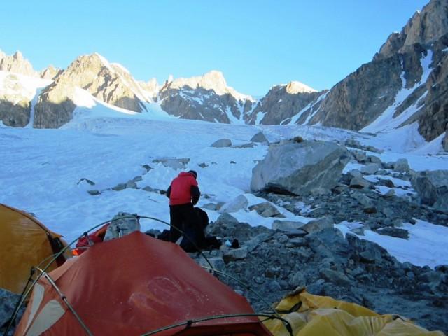 Фото 35 Лагерь на леднике Чегемский