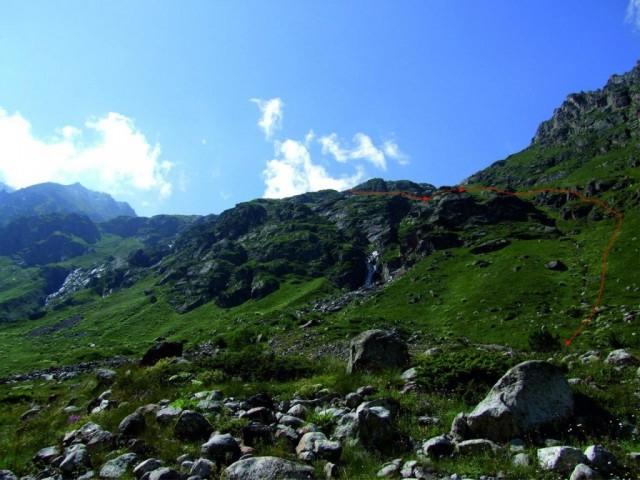 Фото 39 путь спуска в долину р. Башиль