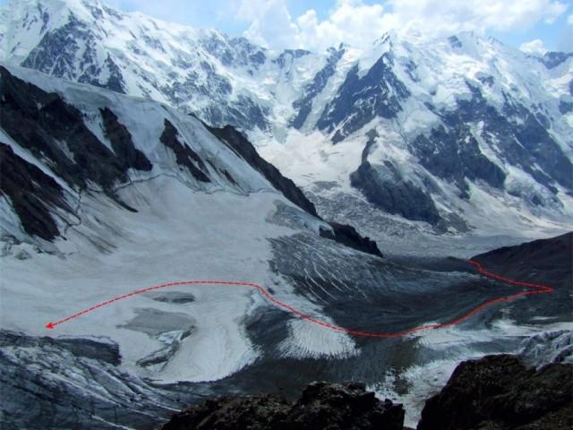 Фото 100 вид с нунатака на лед. Селлы