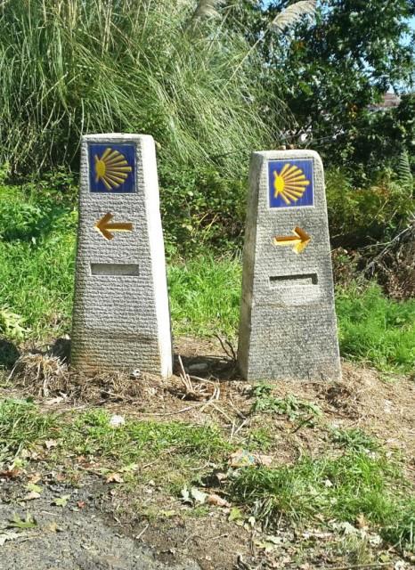 Указатели в Компостеле / Yellow arroys in Compostela