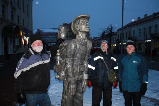 Памятник туристу в городе Гродно