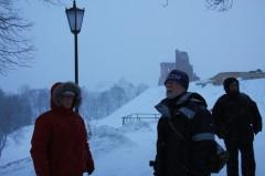 Вид на развалины замка в Новогрудке