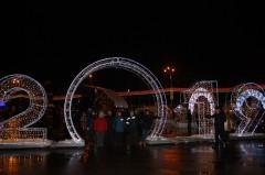 На центральной площади города Гомель